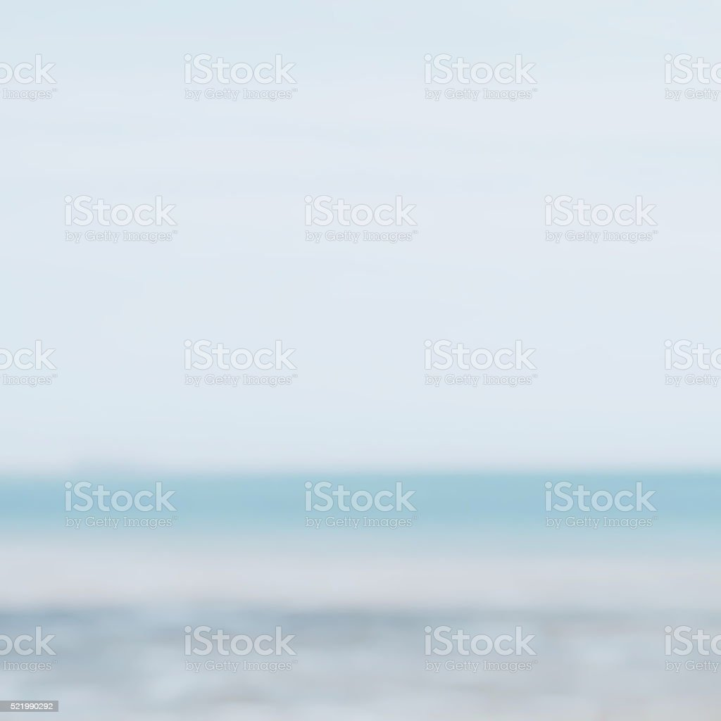 Blurred Horizon Seascape, Completely Defocussed stock photo