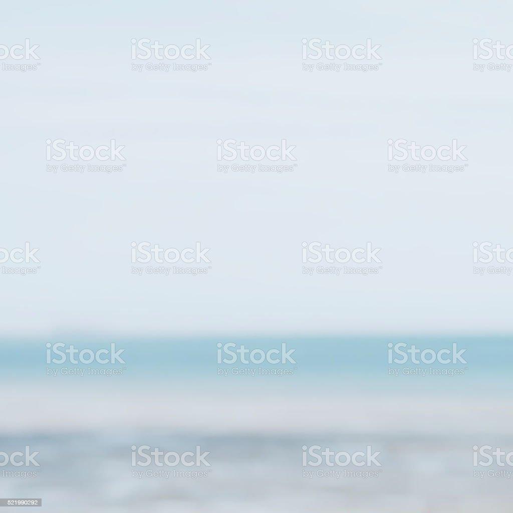 Blurred Horizon Seascape, Completely Defocussed stock photo