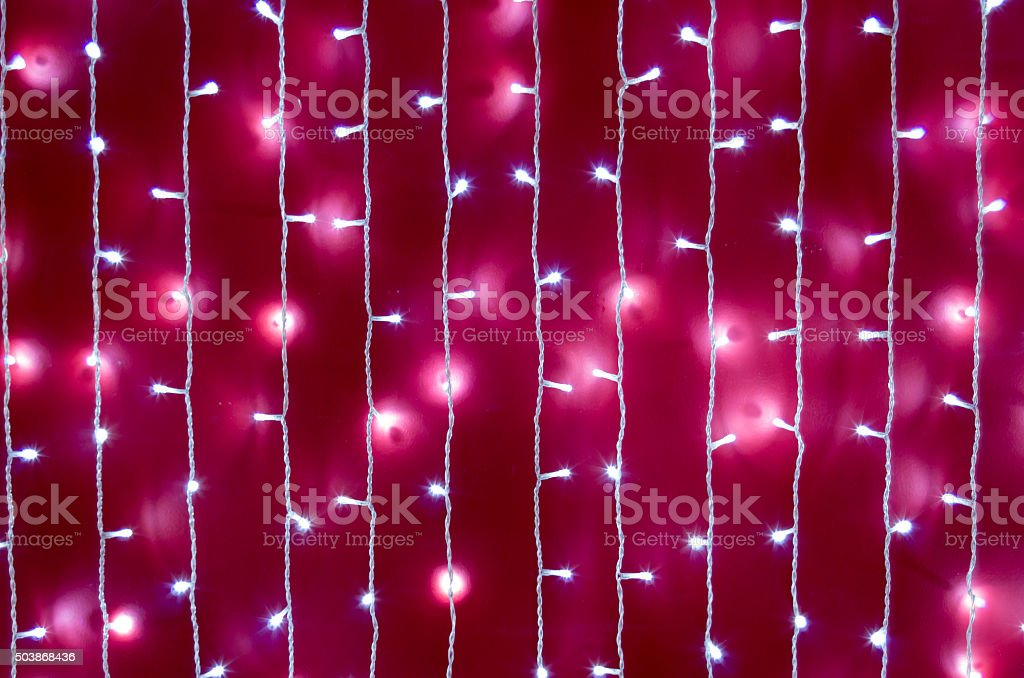 Blurred image of a bright red wall stock photo