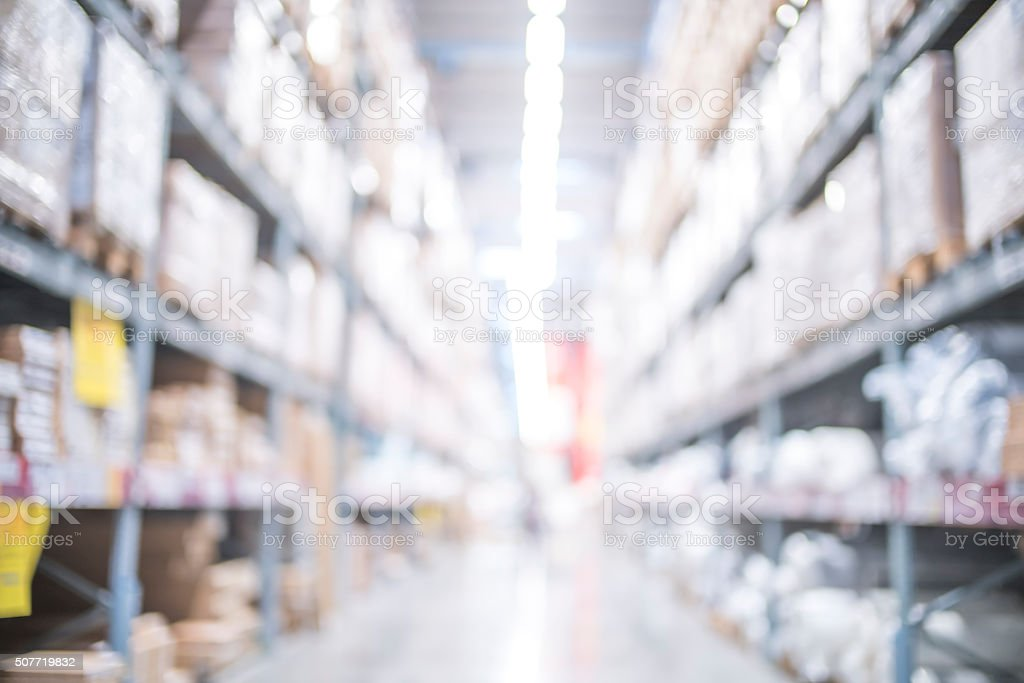 Blurred image of big retail store stock photo