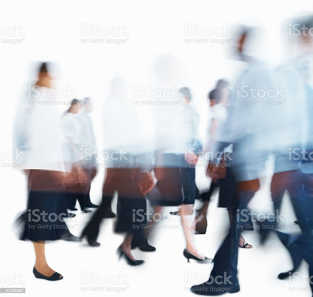 Blurred image of business people walking around royalty-free stock photo