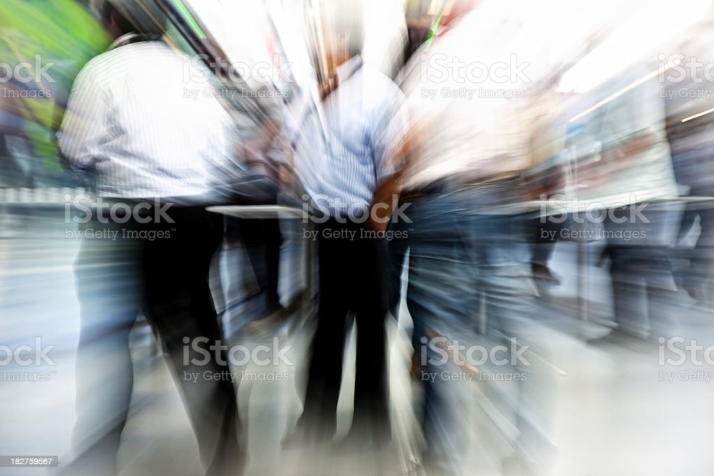 Blurred Image of Businessmen at a Station royalty-free stock photo