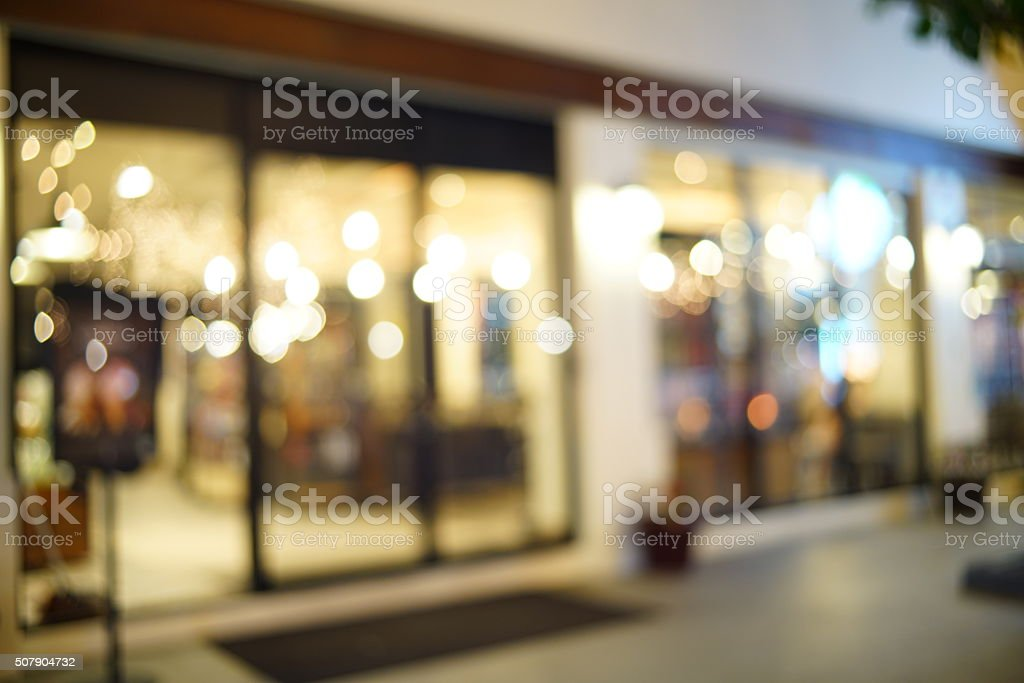 Blurred image of restaurant / coffee shop stock photo