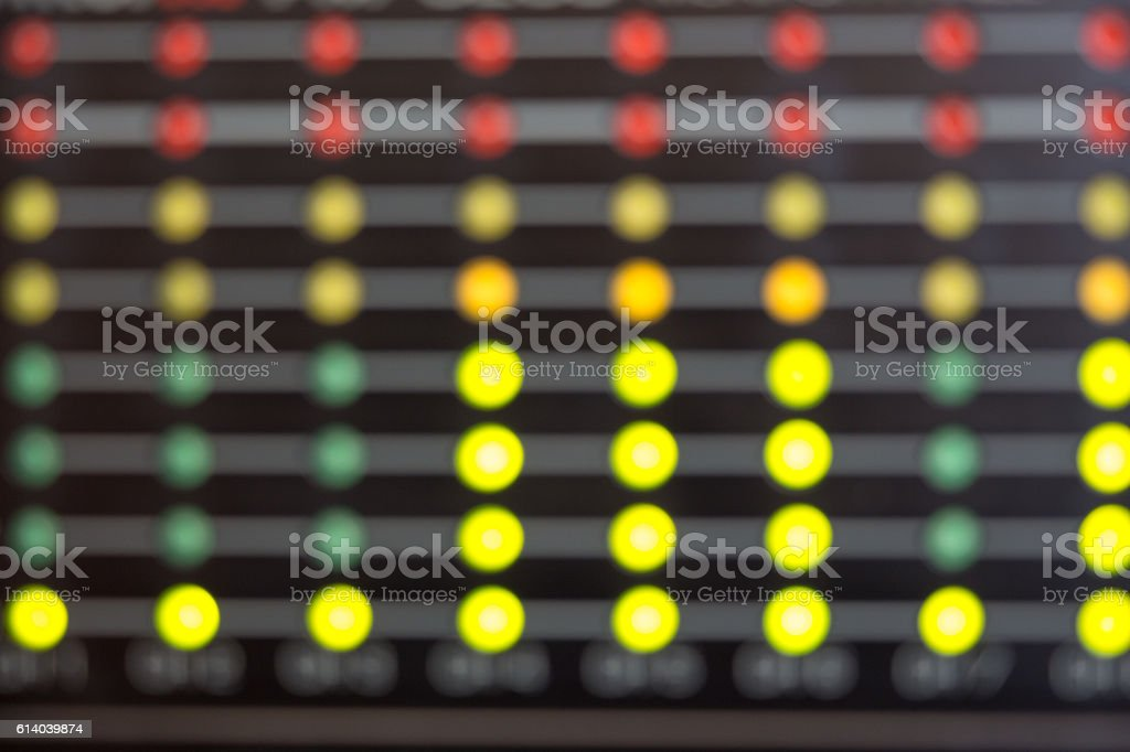 Blurred LED's indicators stock photo