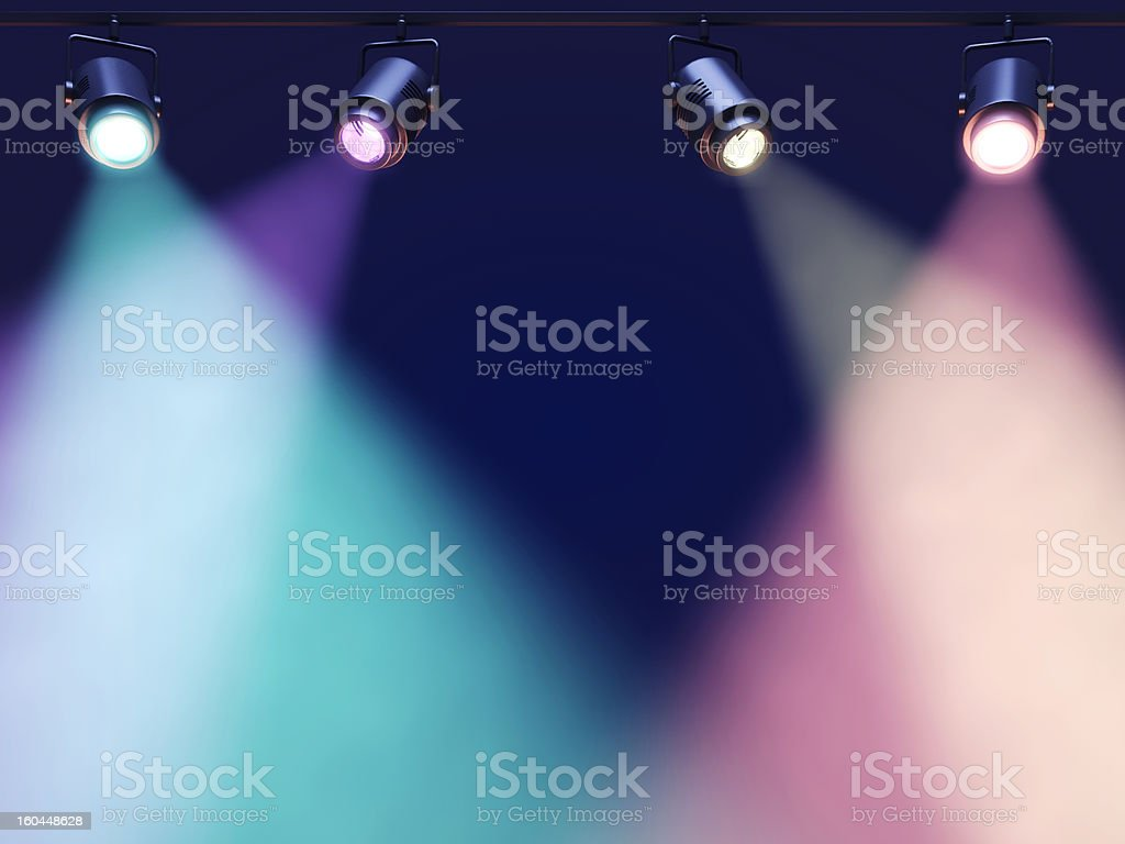 Blurred light coming from Spotlight stock photo