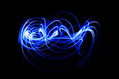 Blurred Light painting, Abstract of lighting equipment.