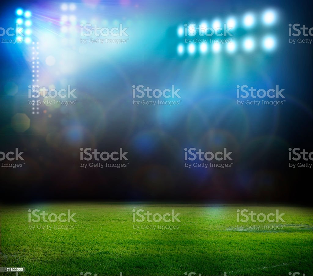 Blurred lights at a football field  royalty-free stock photo