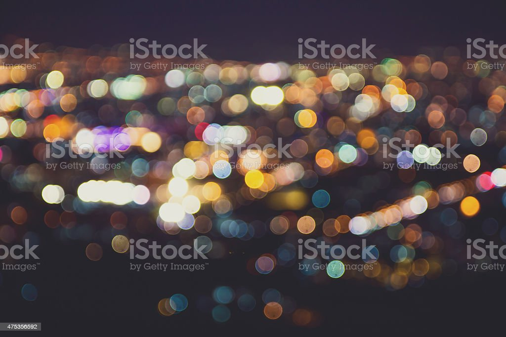 Blurred lights,Vintage effect royalty-free stock photo