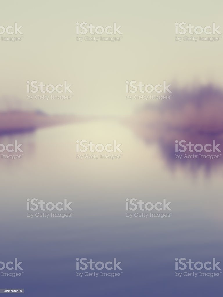 blurred misty river stock photo
