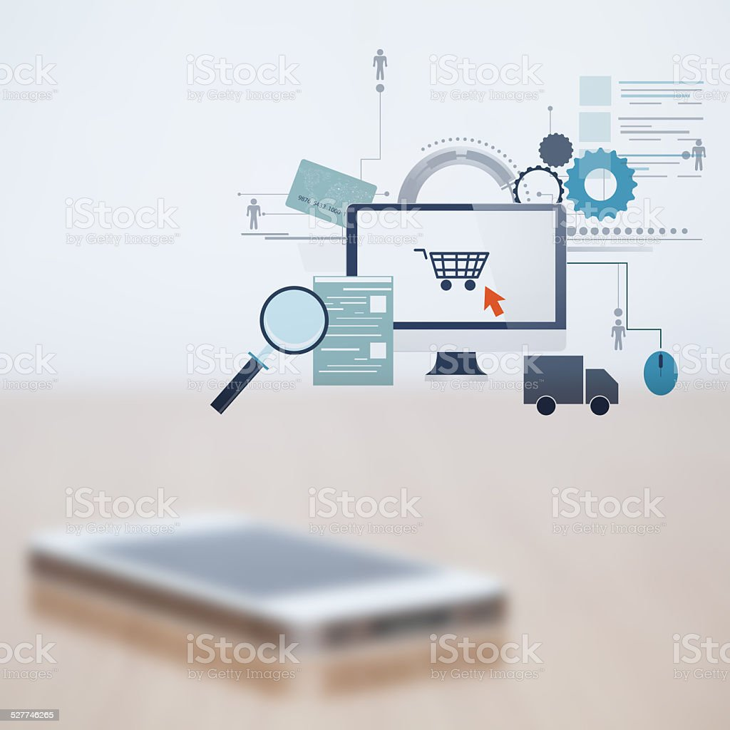 Blurred mobile phone stock photo