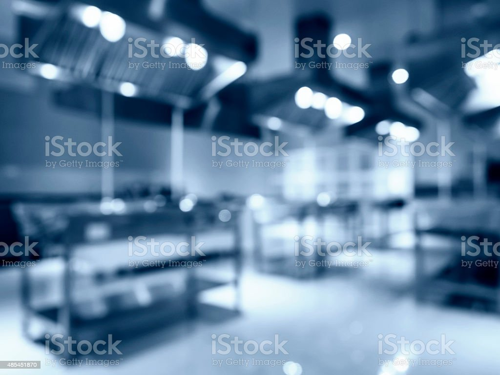 Blurred Modern Kitchen Appliance Interior stock photo