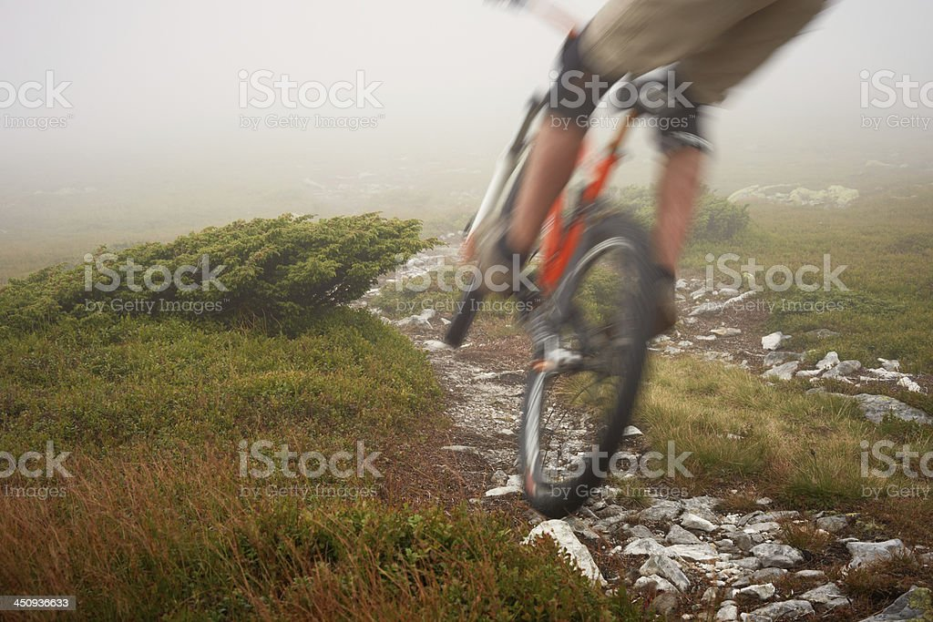 Blurred Motion Cyclist stock photo