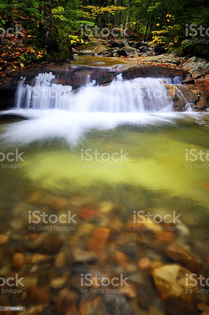 Blurred Motion Falls on the Pemi (Franconia Notch) stock photo