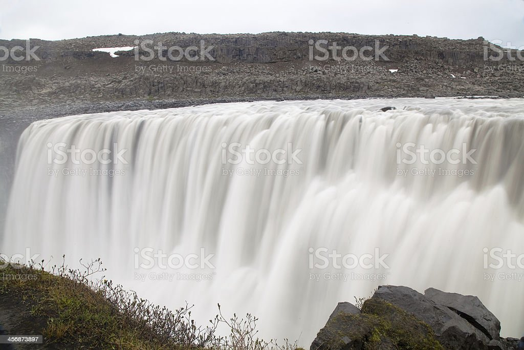 Blurred motion of Dettifoss waterfall royalty-free stock photo