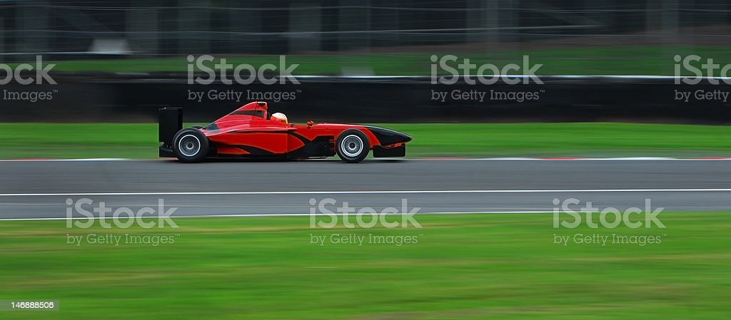 Blurred Motion Racing Car stock photo