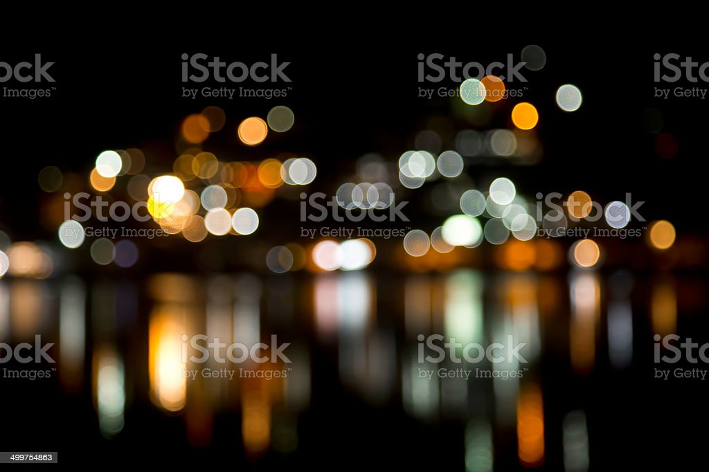 Blurred multi-color lights stock photo