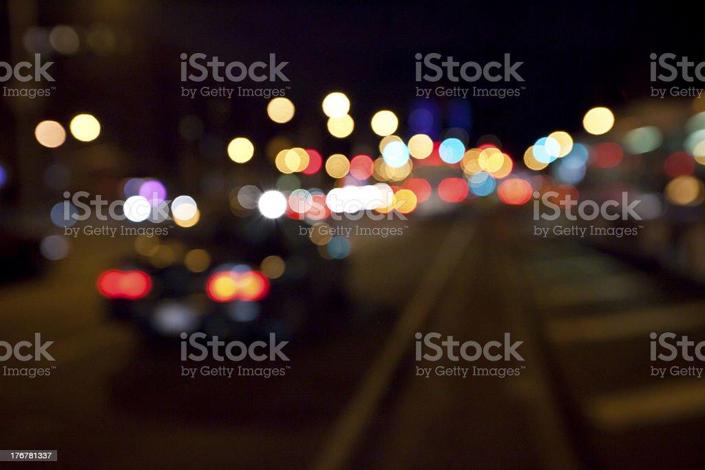 Blurred night stock photo