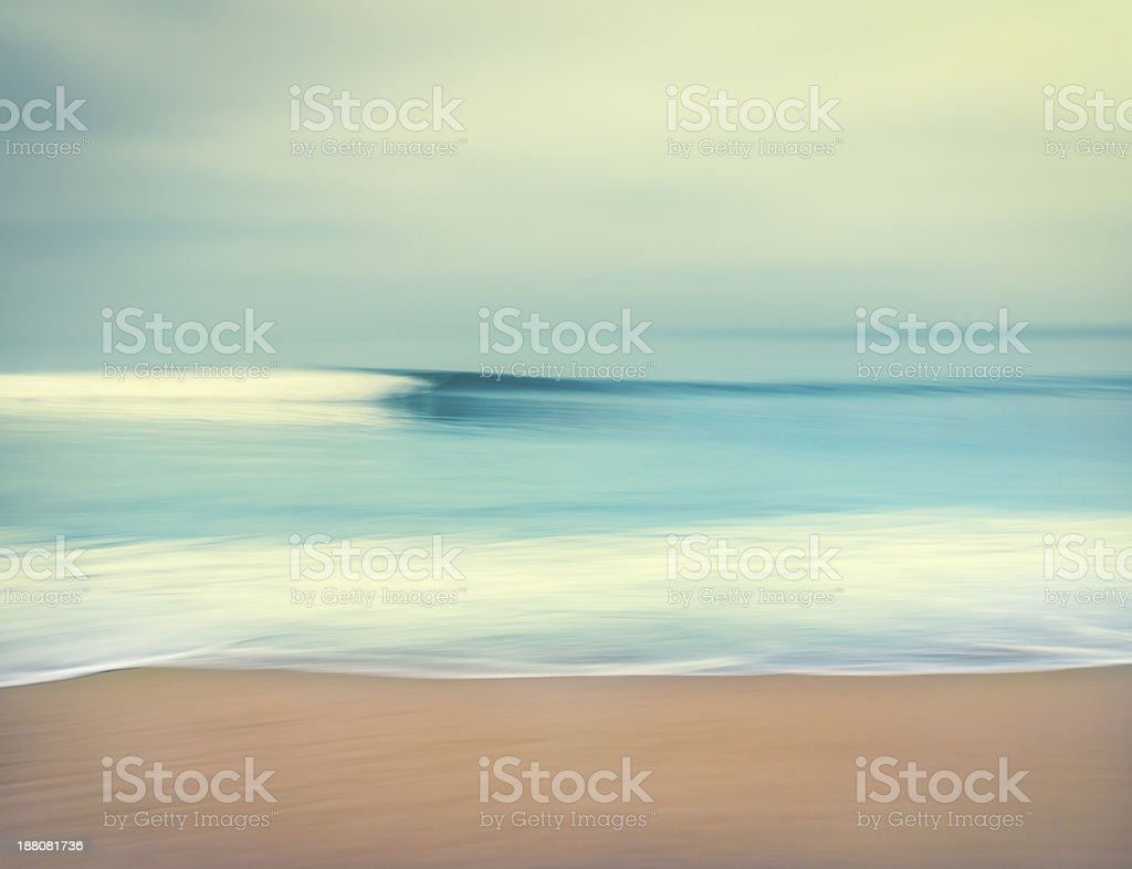 Blurred Ocean Wave stock photo