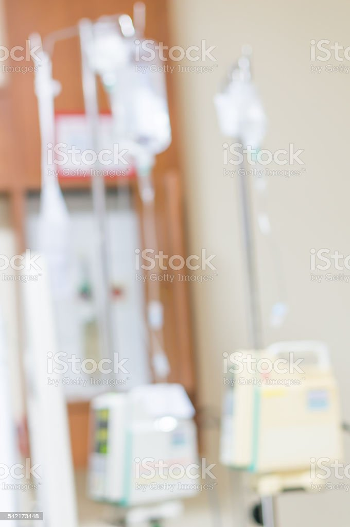 Blurred of infusion pump stock photo