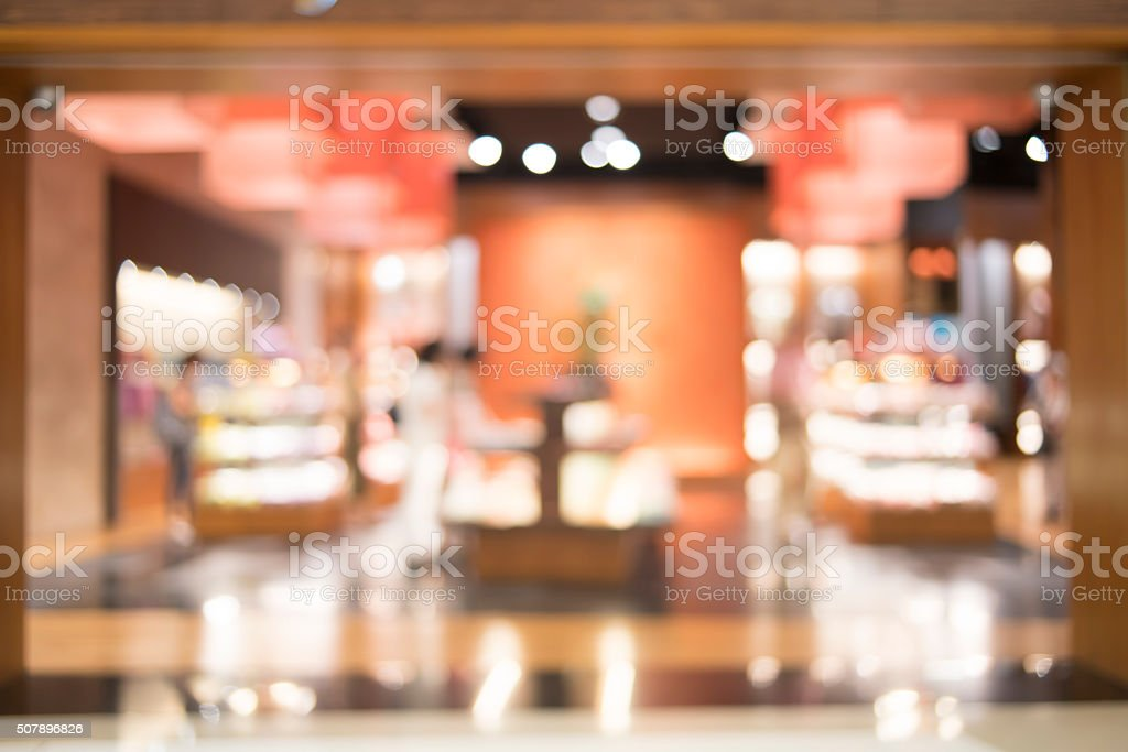 Blurred of shop, store, shopping mall stock photo