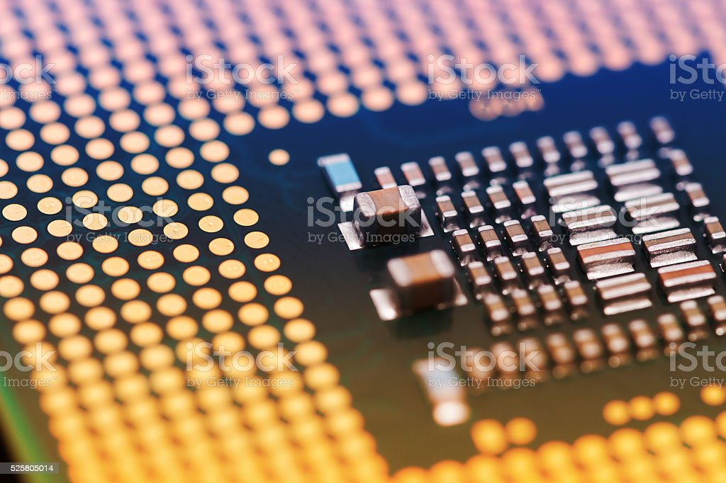 blurred Part of main-board computer, Background Technology Concept. stock photo