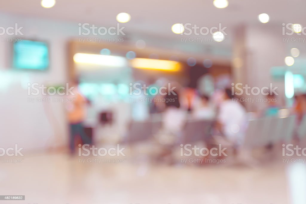 Blurred patient waiting for see doctor,abstract background stock photo