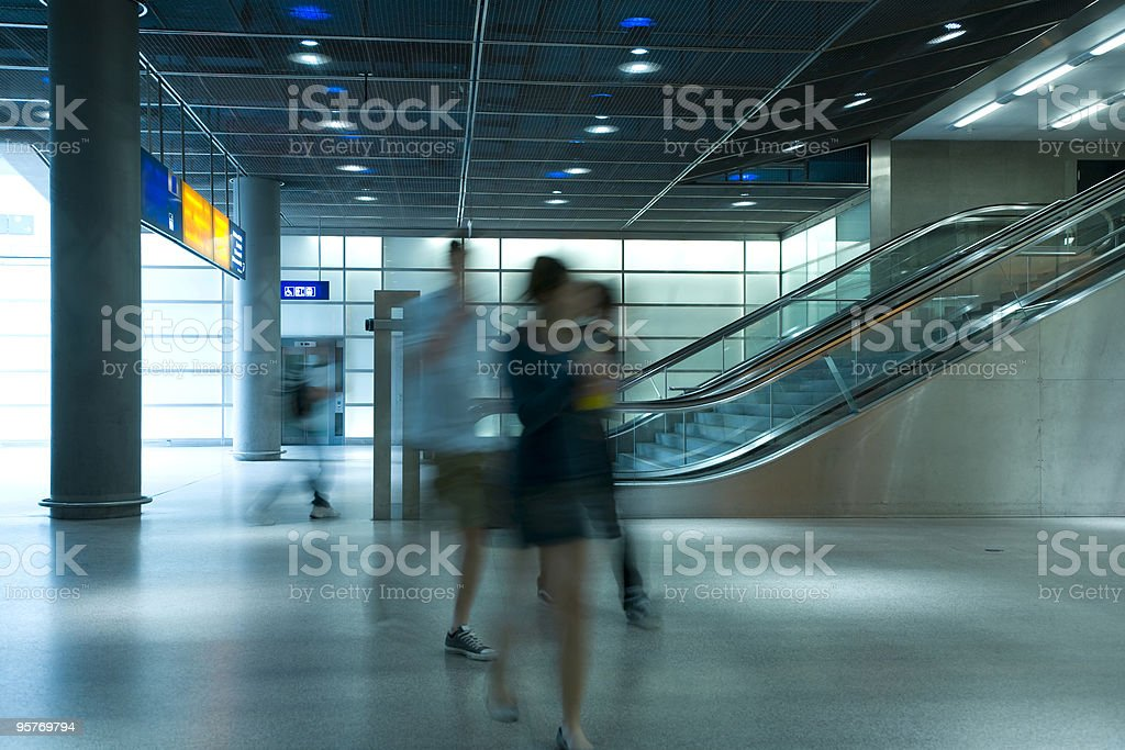 Blurred People at the Station royalty-free stock photo