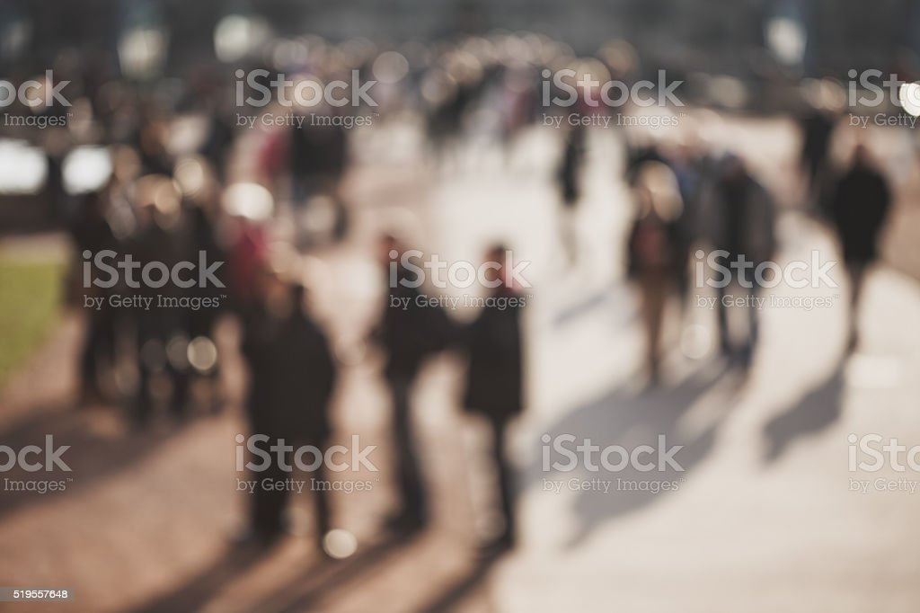 Blurred people background stock photo