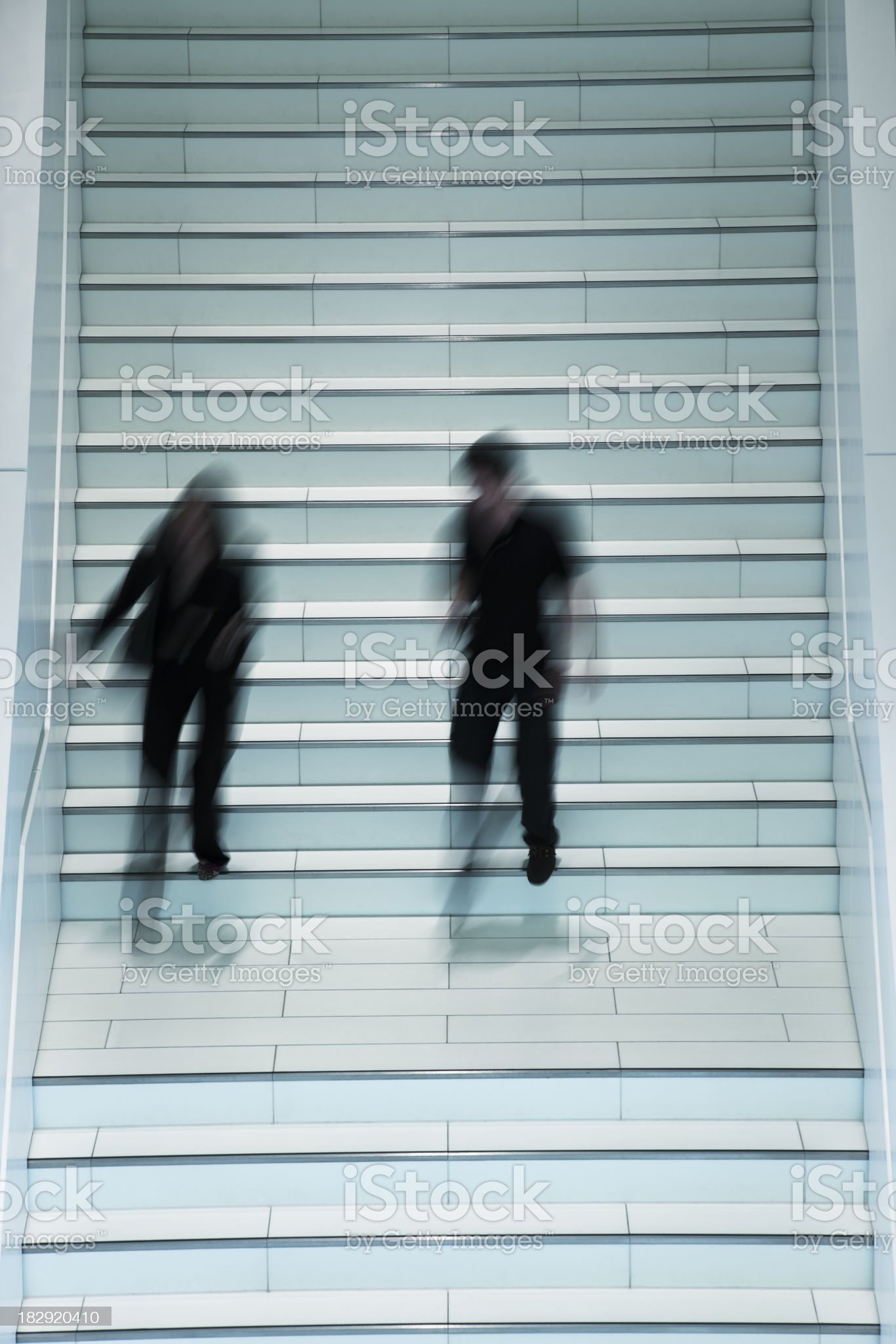 Blurred People on Stairs royalty-free stock photo