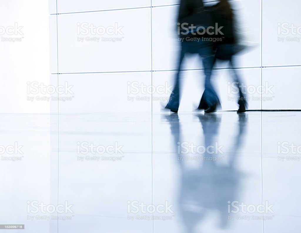 Blurred People Walking in a Modern Interoior royalty-free stock photo