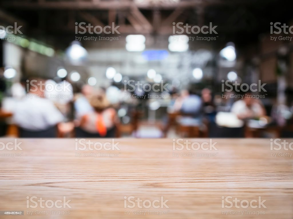 Blurred people with Restaurant bar cafe background stock photo