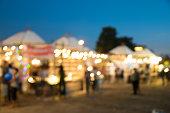 blurred photo night market and bokeh led.