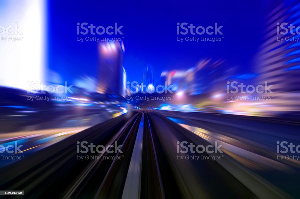 A blurred picture of what night traffic looks like  stock photo