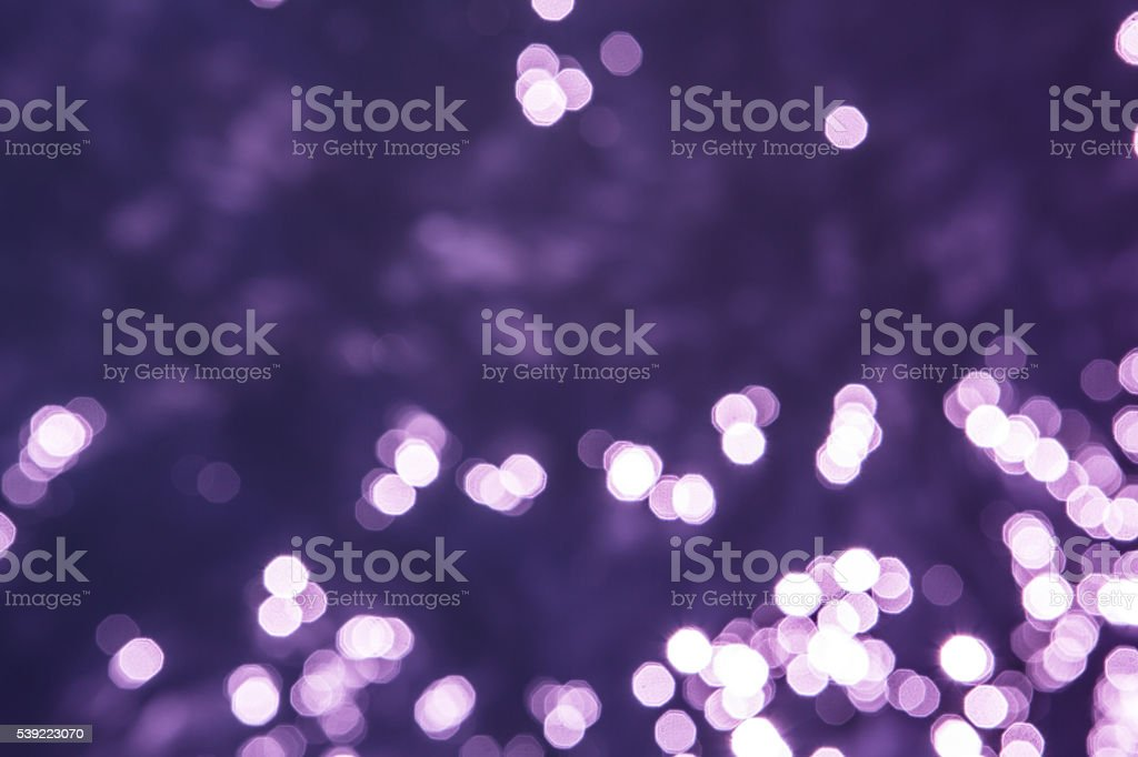 Blurred purple and blue bokeh dots - Stock Image stock photo