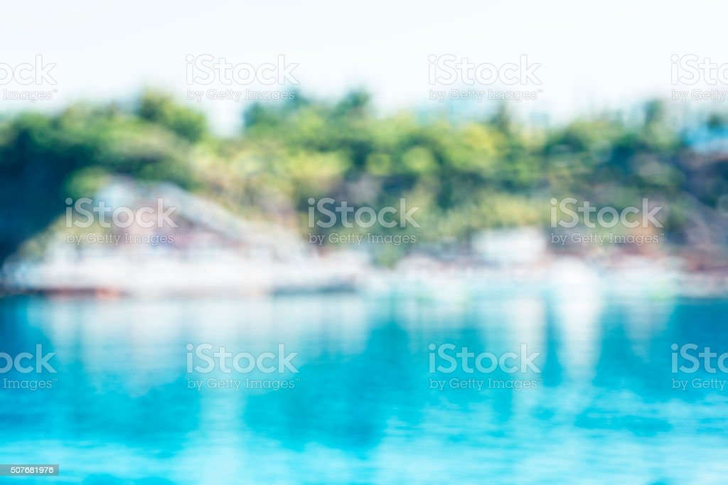 Blurred Resort Swimming Pool stock photo