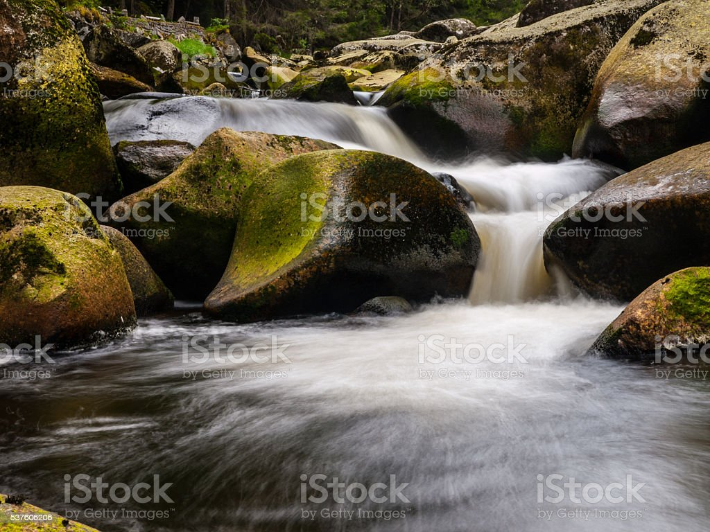 Blurred river stream detail stock photo