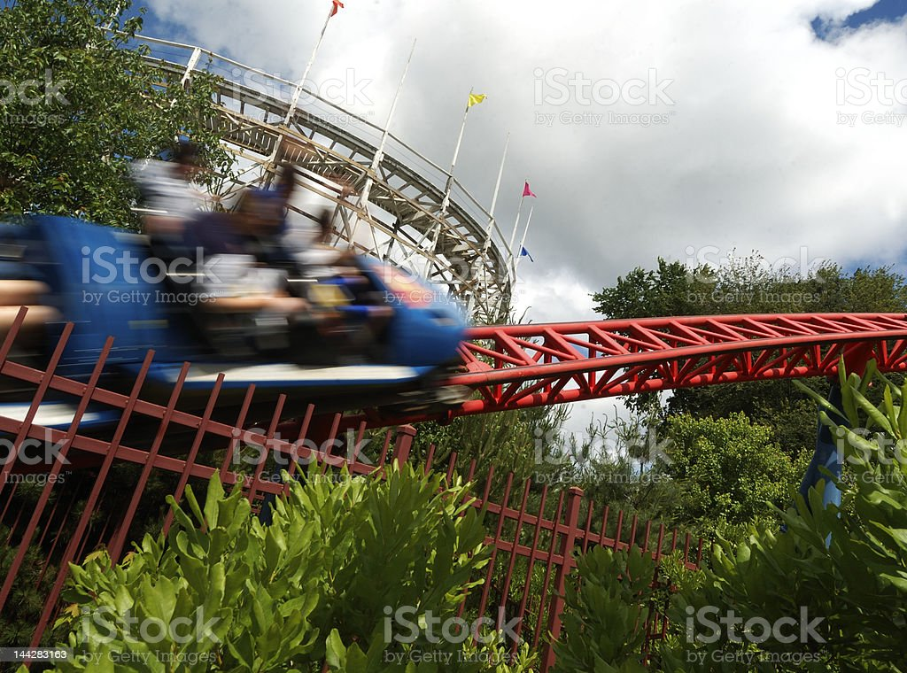 blurred roller coaster royalty-free stock photo