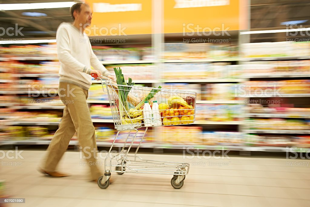 Blurred shopping stock photo