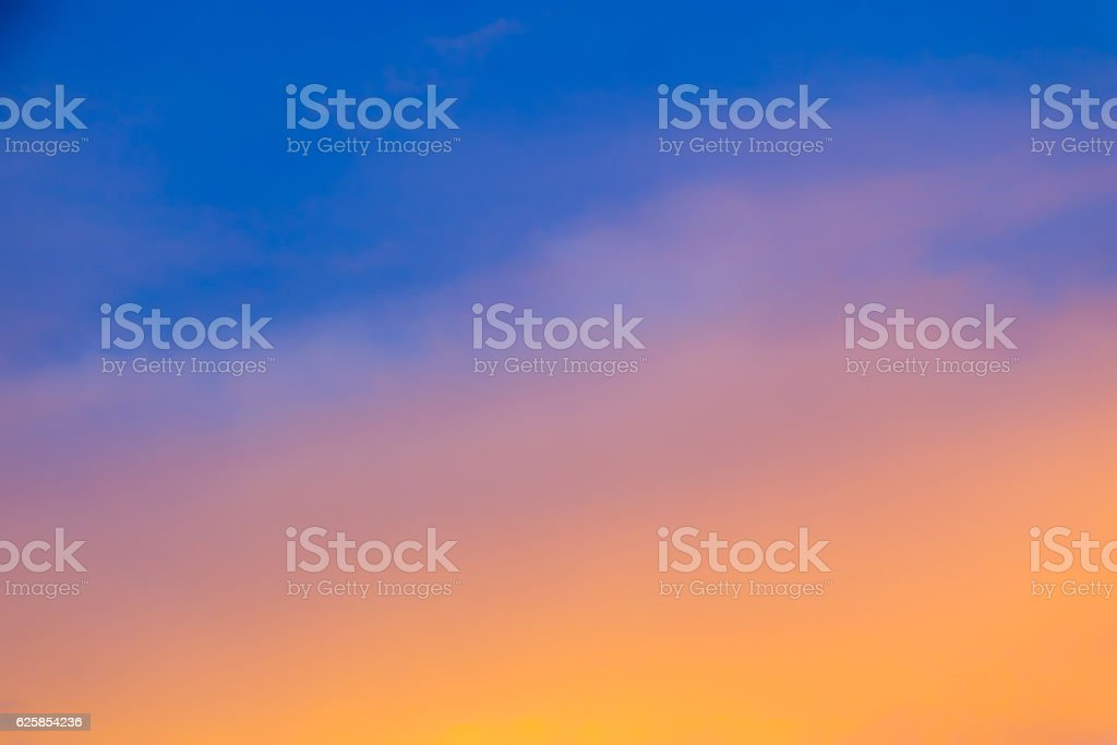 Blurred Sky During Sunset - Gradient Background stock photo