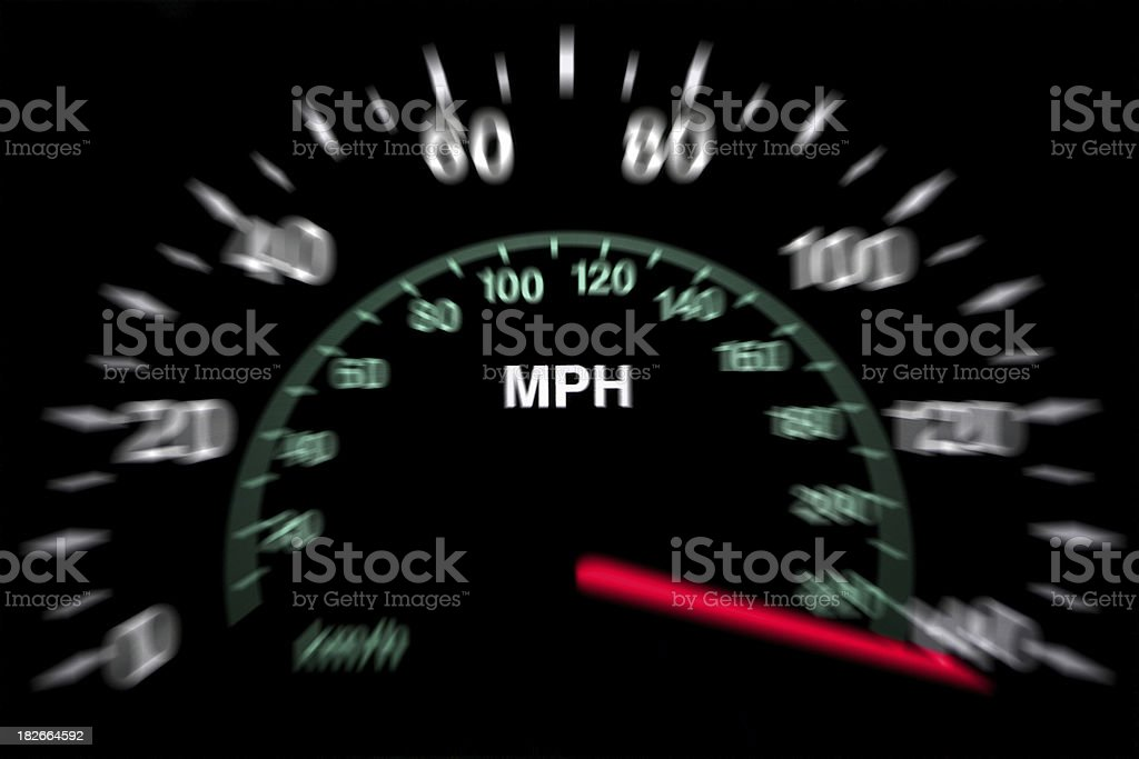 Blurred Speed Image at 140 mph! royalty-free stock photo