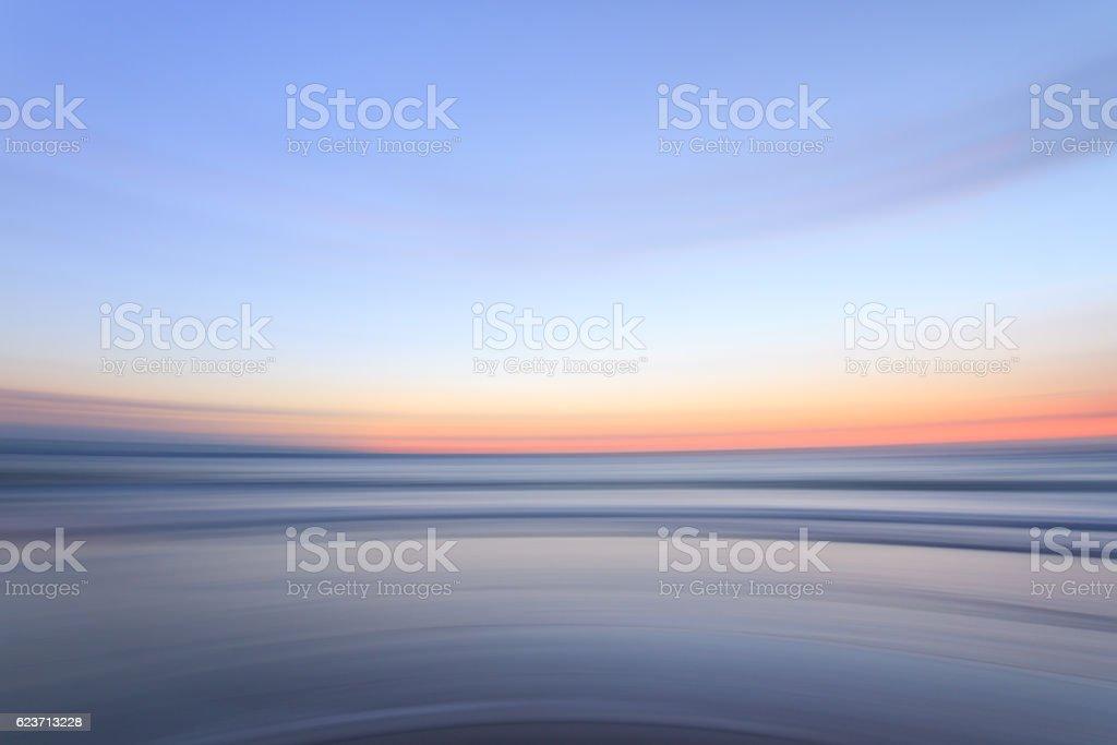 Blurred sunset stock photo