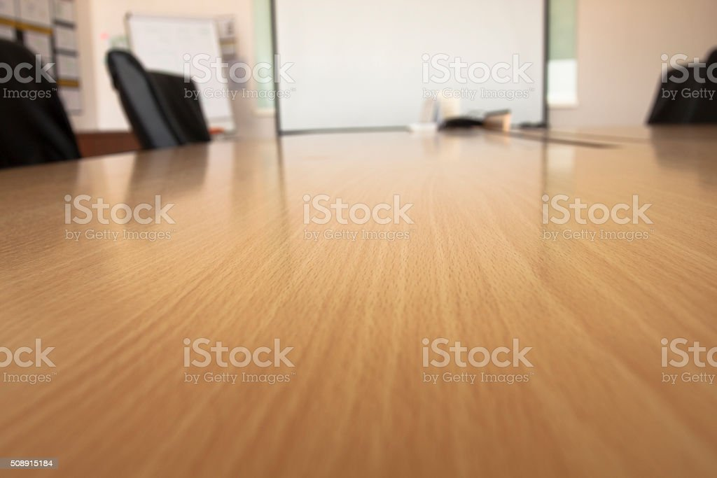 Blurred table in meeting room stock photo
