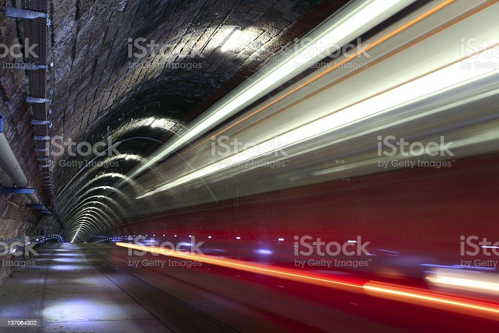 Blurred train stock photo