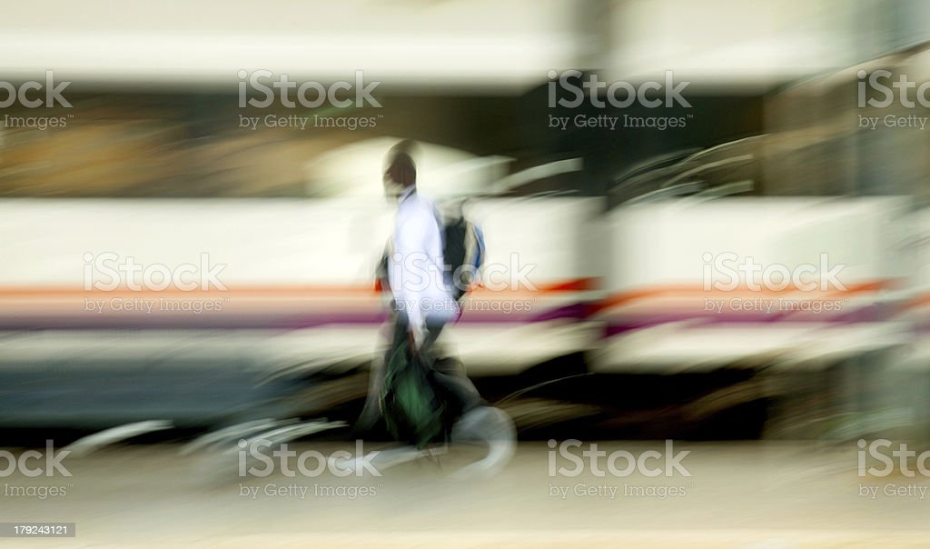 Blurred train royalty-free stock photo