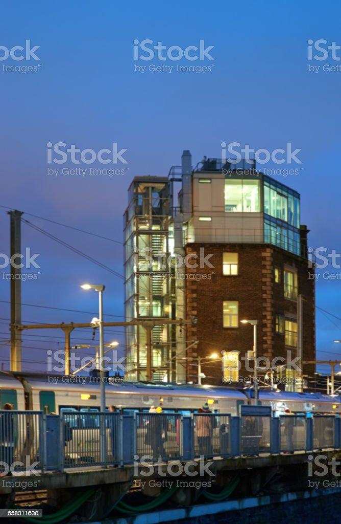 Blurred urban background stock photo