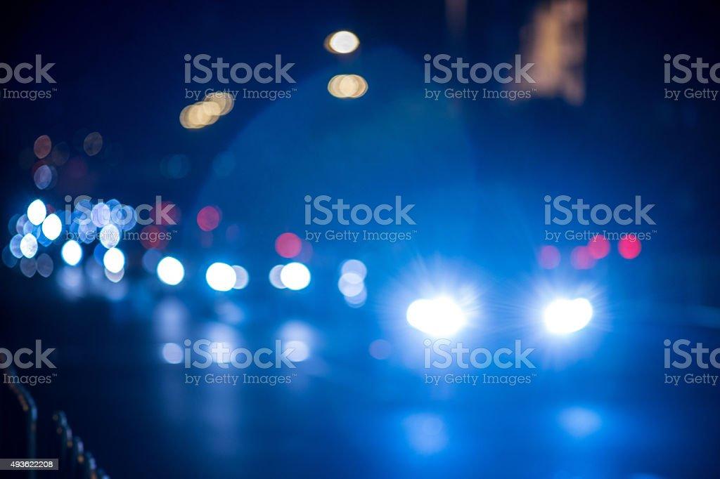blurred urban traffic scene stock photo