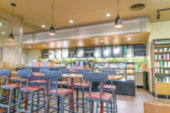 Blurred view of a coffee shop