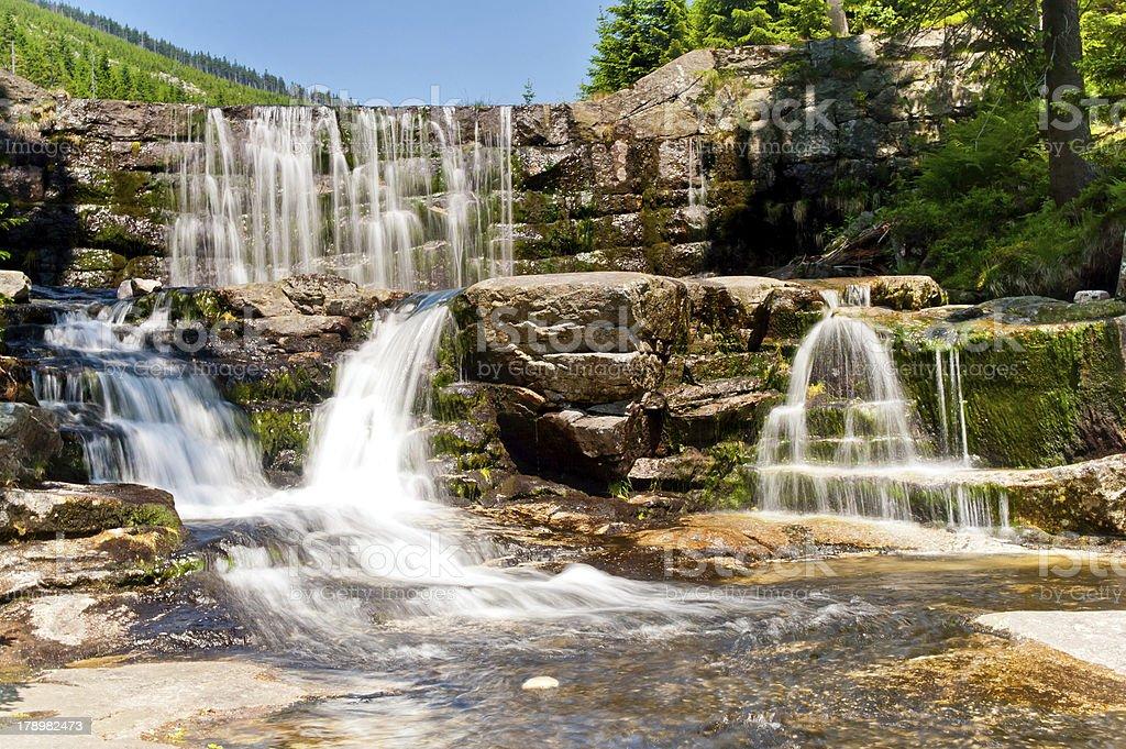 blurred waterfall cascade royalty-free stock photo
