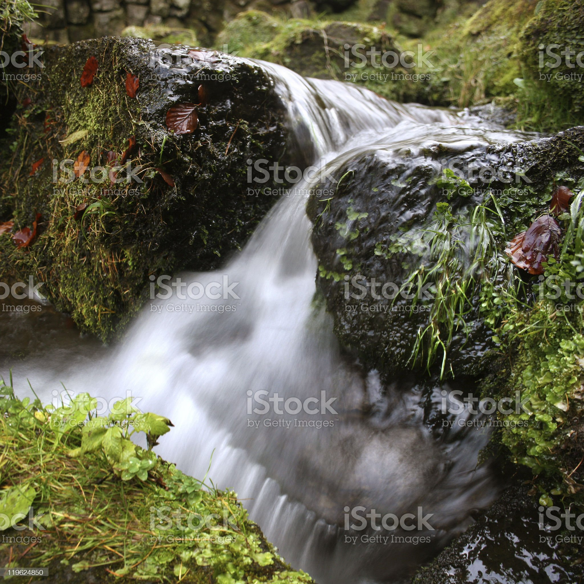 Blurred waterfall royalty-free stock photo