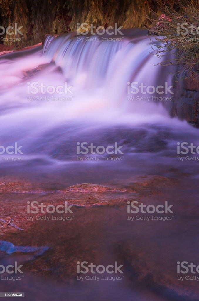 Blurred waterfall stock photo